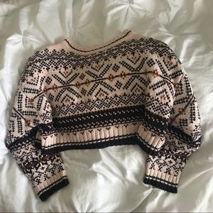 Urban Outfitters Cropped Aztec Sweater